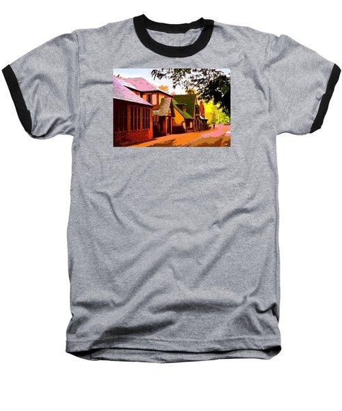 A Bicyclist On English Lane Baseball T-Shirt