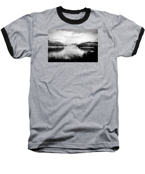 A Black And White Landscape On The Nantahala River Baseball T-Shirt