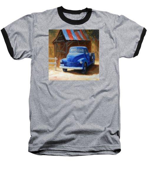 A Blue Chevrolet Baseball T-Shirt