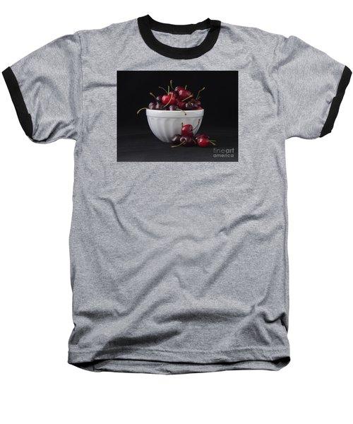 A Bowl Full Of Cherries Baseball T-Shirt