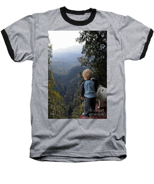 A Boy And His Dog Baseball T-Shirt