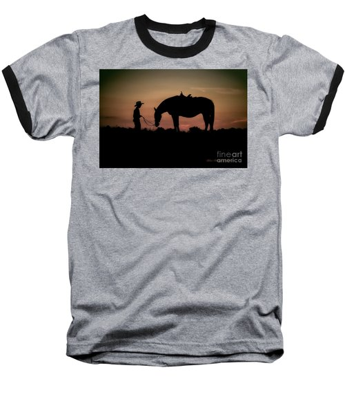 A Boy And His Horse Baseball T-Shirt by Linda Blair