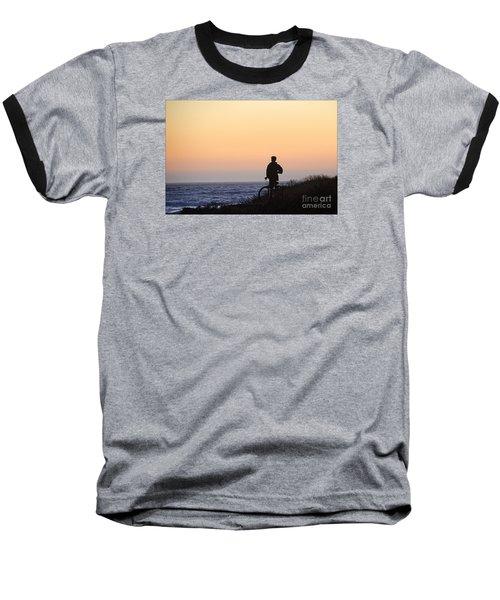 A Boy His Bike And The Beach Baseball T-Shirt