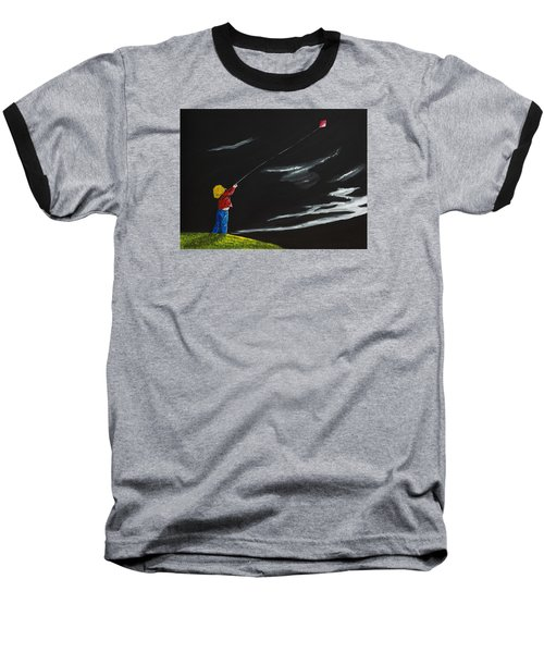 A Braw Night For Flight Baseball T-Shirt by Scott Wilmot