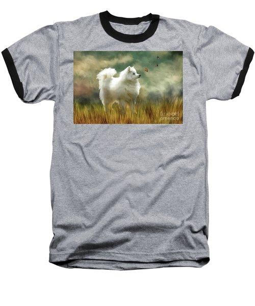 Baseball T-Shirt featuring the digital art A Brief Encounter by Lois Bryan