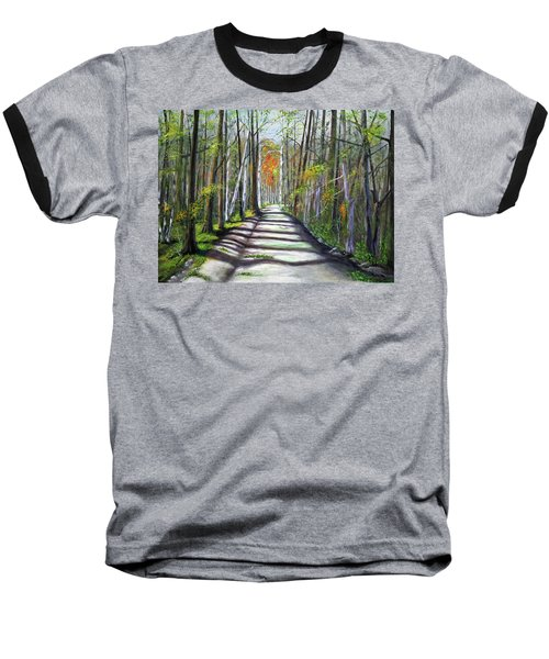 A Bright Autumn Day  Baseball T-Shirt