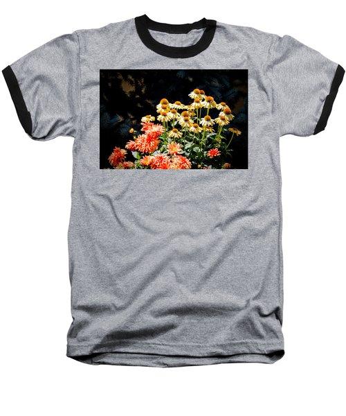 A Bright Flower Patch Baseball T-Shirt