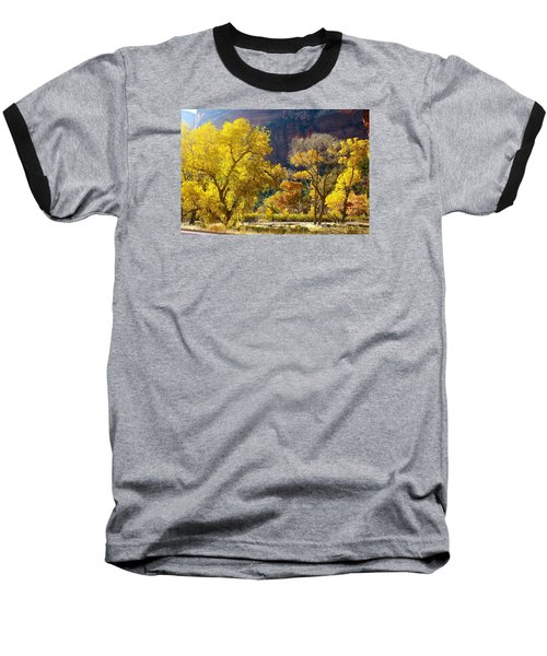 A Bright Gathering Of Trees Baseball T-Shirt