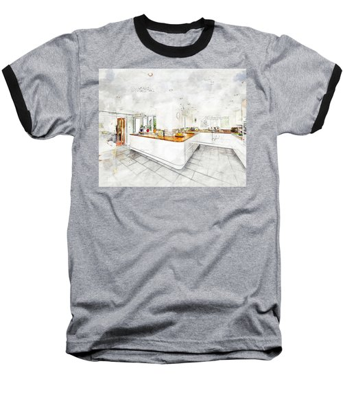 A Bright White Kitchen Baseball T-Shirt