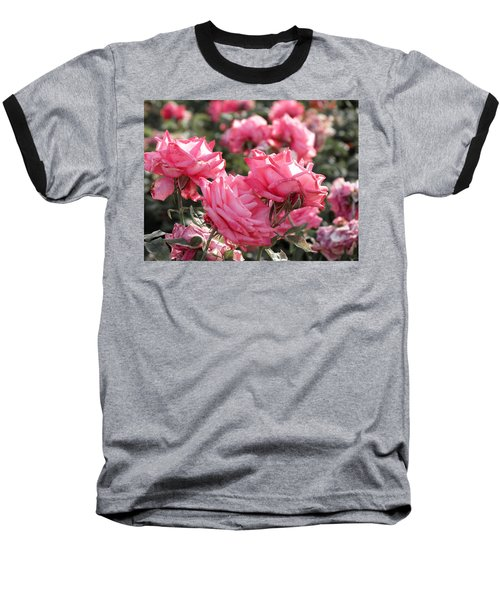 Baseball T-Shirt featuring the photograph A Bunch Of Pink by Laurel Powell