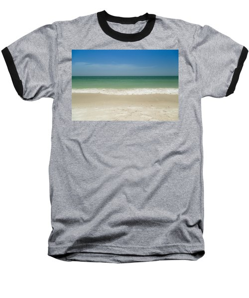 A Calm Wave Baseball T-Shirt by Christopher L Thomley