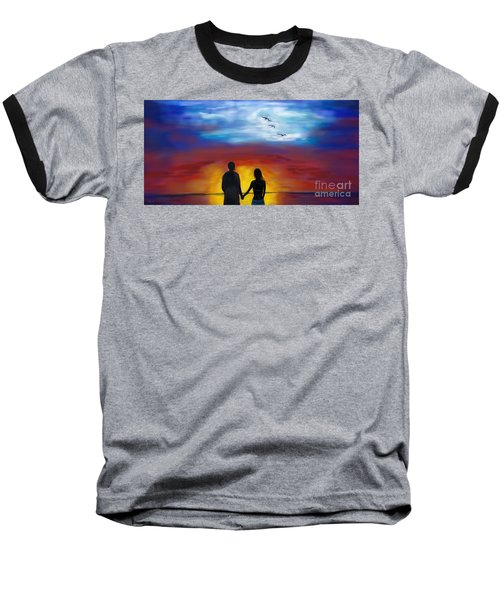 Baseball T-Shirt featuring the painting A Captivating Love by Leslie Allen