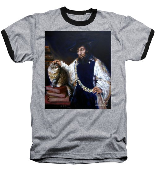 A Cat For Rembrandt_ Aristotle Caresses Calliope Baseball T-Shirt
