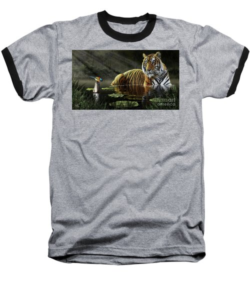 Baseball T-Shirt featuring the digital art A Chance Encounter by Don Olea