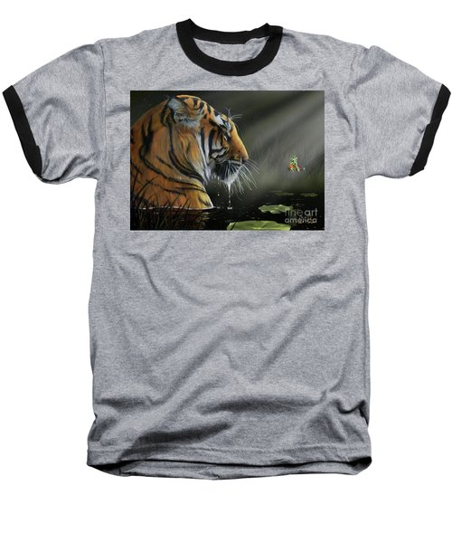 Baseball T-Shirt featuring the digital art A Chance Encounter II by Don Olea