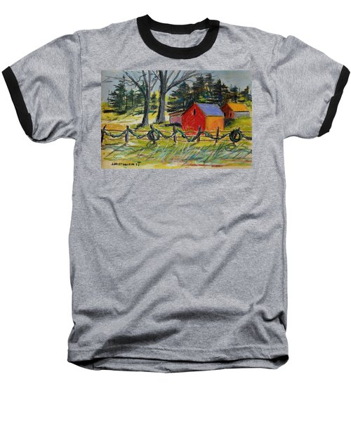 A Change Of Season Baseball T-Shirt by John Williams
