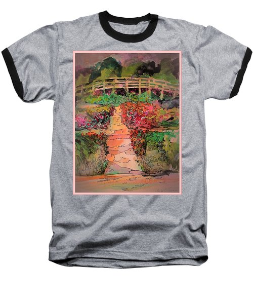 A Charming Path Baseball T-Shirt by Mindy Newman