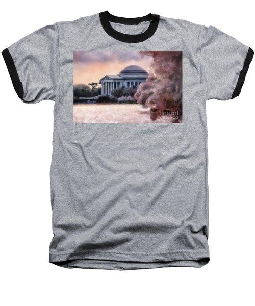 Baseball T-Shirt featuring the digital art A Cherry Blossom Dawn by Lois Bryan