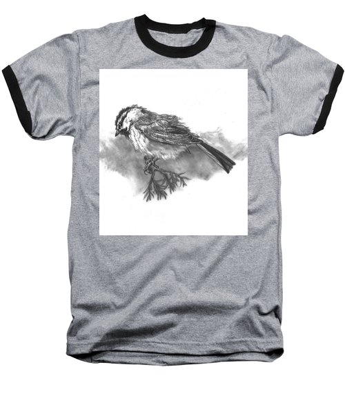 A Chickadee Named Didi Baseball T-Shirt by Dawn Senior-Trask