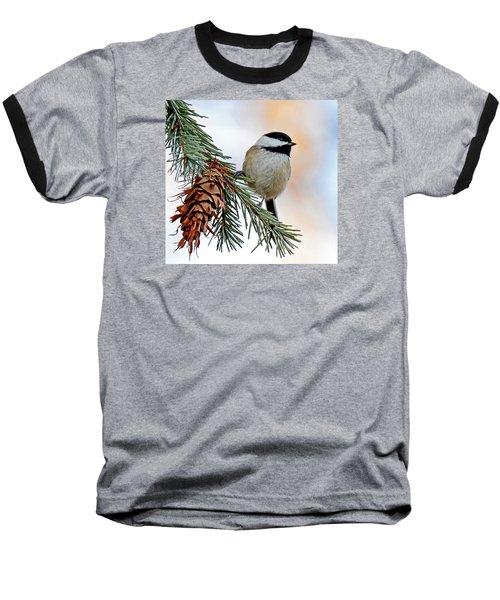 A Christmas Chickadee Baseball T-Shirt