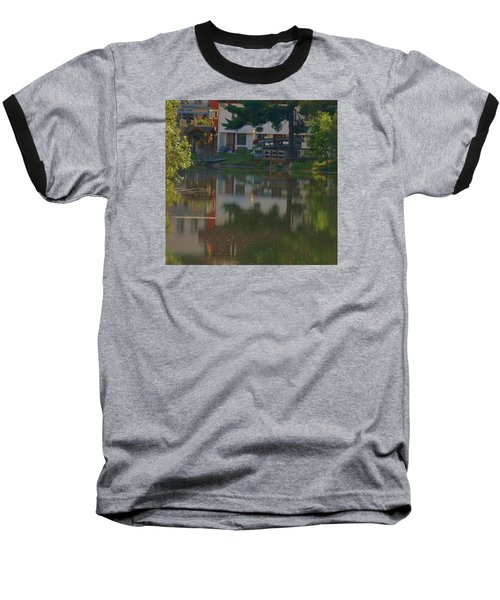 Baseball T-Shirt featuring the photograph A Cities Reflection by Ramona Whiteaker