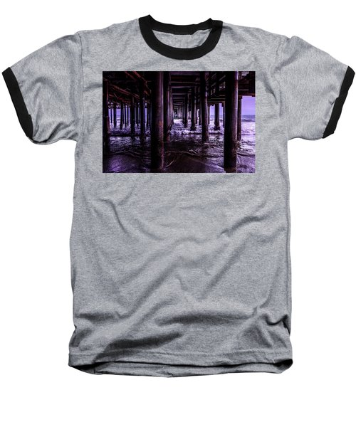 A Cloudy Day Under The Pier Baseball T-Shirt