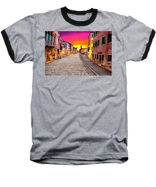 A Cobblestone Street In Venice Baseball T-Shirt
