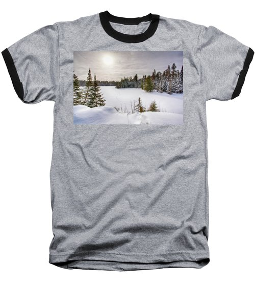 A Cold Algonquin Winters Days  Baseball T-Shirt