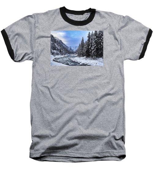 A Cold Winter Day  Baseball T-Shirt by Lynn Hopwood