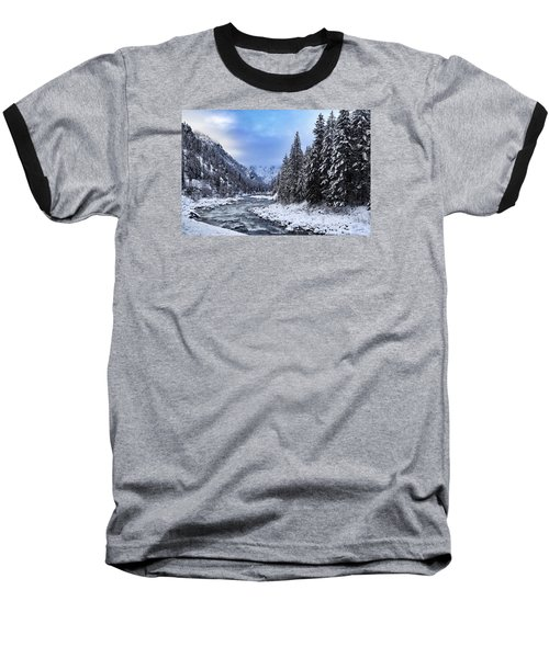 A Cold Winter Day  Baseball T-Shirt