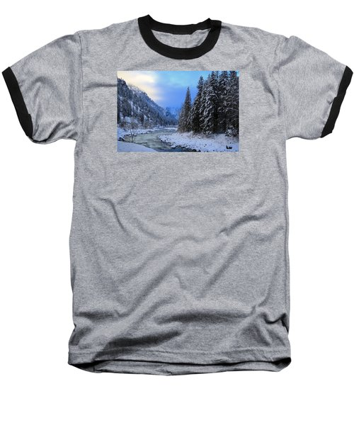 A Cold Winter Day Version 2 Baseball T-Shirt