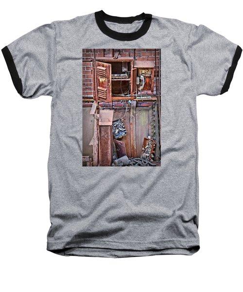 Baseball T-Shirt featuring the photograph A Collaboration Of Rust by DJ Florek