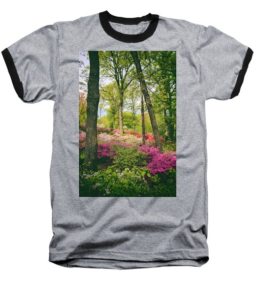 A Colorful Hillside Baseball T-Shirt