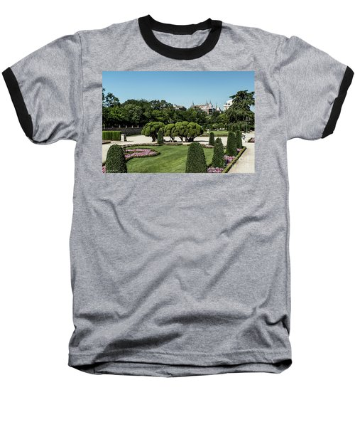 Colorfull El Retiro Park Baseball T-Shirt