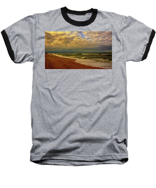 A Congregation Of Clouds Baseball T-Shirt by John Harding