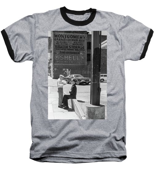 Baseball T-Shirt featuring the photograph A Conversation by Frank DiMarco