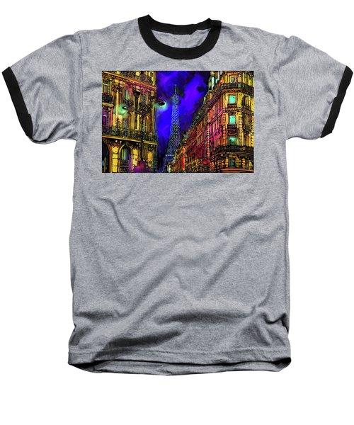 A Corner In Paris Baseball T-Shirt by DC Langer
