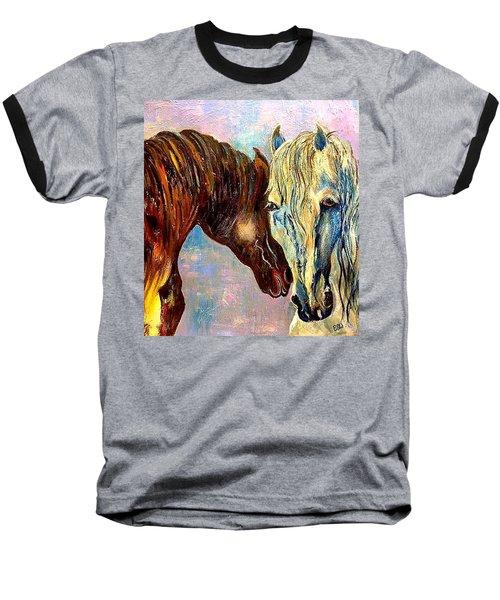 A Couple Of Horses Baseball T-Shirt