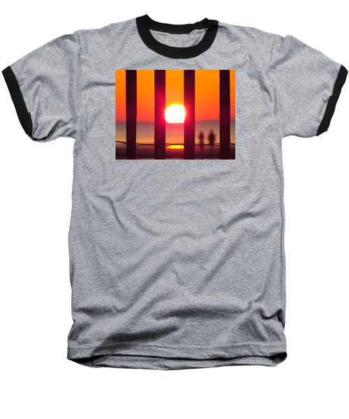 Baseball T-Shirt featuring the photograph A Couple's Sunrise by Nikki McInnes