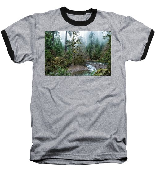 Baseball T-Shirt featuring the photograph A Creek Runs Through It by Belinda Greb