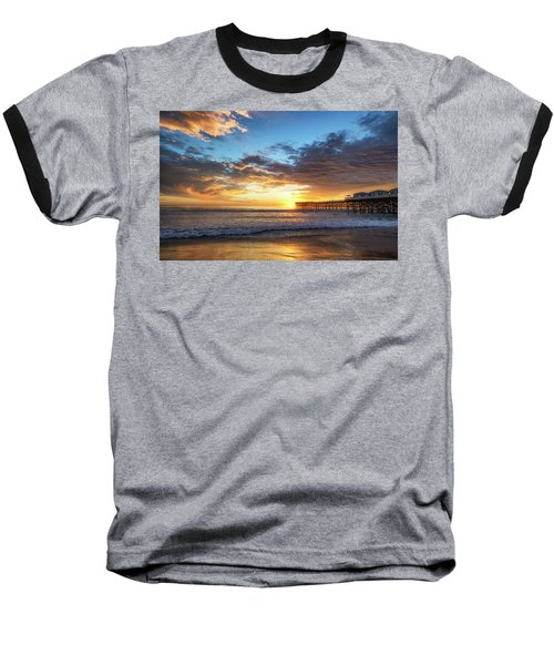 A Crystal Sunset Baseball T-Shirt by Joseph S Giacalone