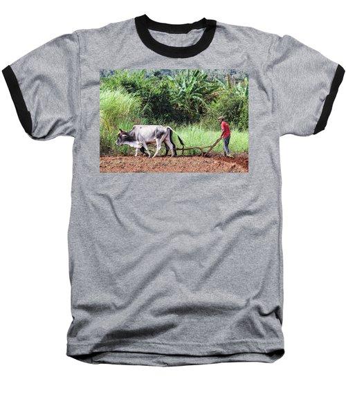 A Cuban Tractor Baseball T-Shirt