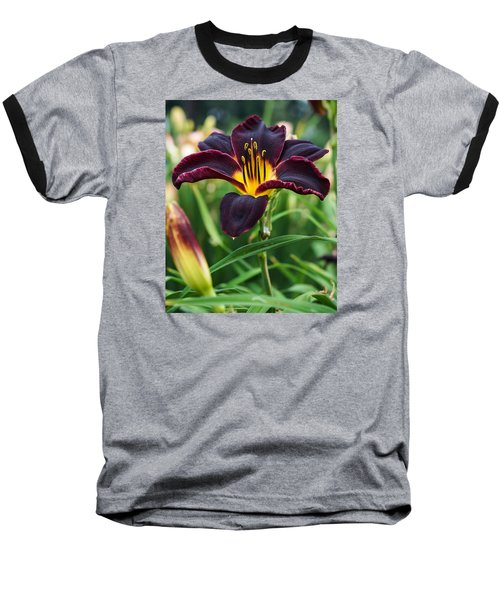 A Dark Purple Tiger Lilly Baseball T-Shirt