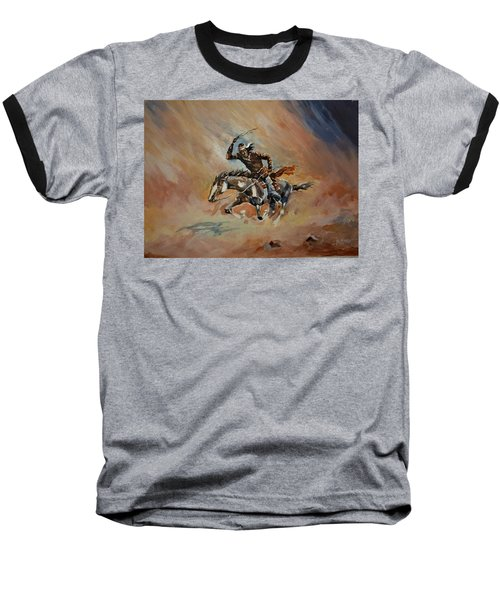 A Dash For Cover Racing Oncoming Sandstorm   Baseball T-Shirt