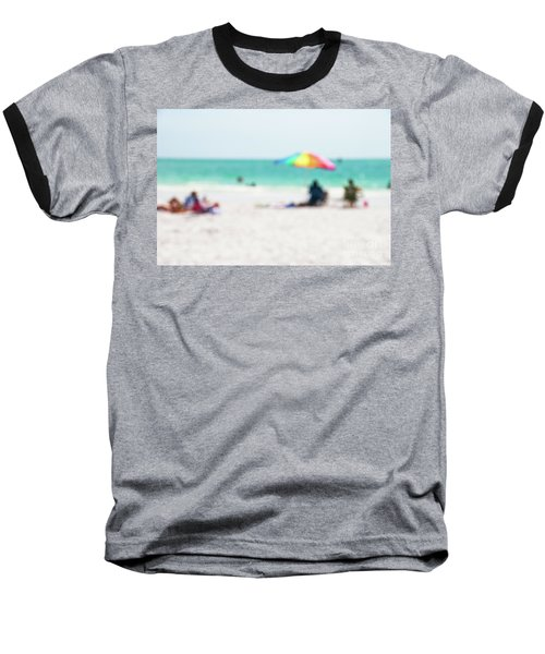 Baseball T-Shirt featuring the photograph a day at the beach IV by Hannes Cmarits