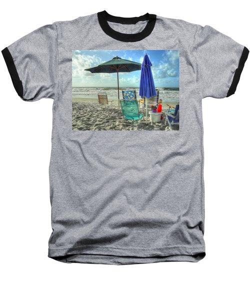 A Day At The Beach Baseball T-Shirt