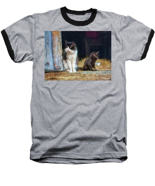 A Day In The Life Of A Barn Cat Baseball T-Shirt