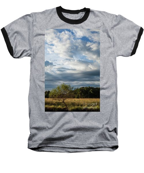 Baseball T-Shirt featuring the photograph A Day In The Prairie by Iris Greenwell