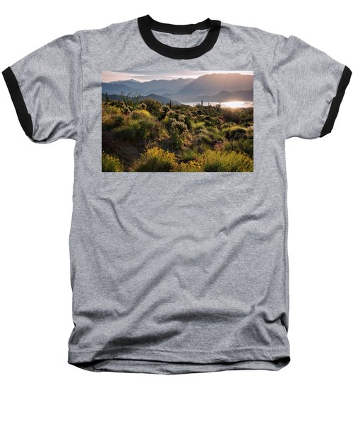 Baseball T-Shirt featuring the photograph A Desert Spring Morning  by Saija Lehtonen