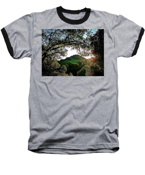 A Distant Cross Baseball T-Shirt